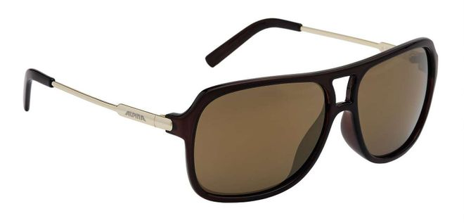 Alpina A112 Lifestyle-Brille - brown transparent