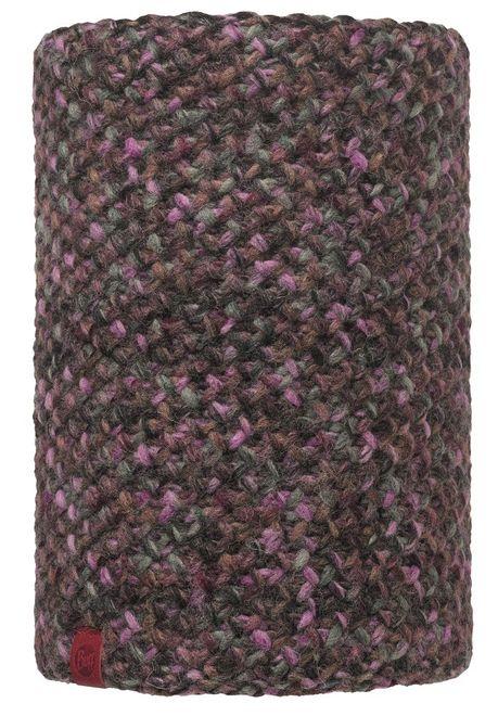 Buff Neckwarmer Knitted & Polar Fleece Margo - plum
