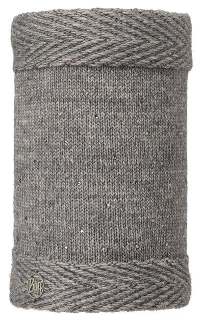 Buff Neckwarmer Knitted & Polar Fleece Aura Chic - grey - grey vigoré