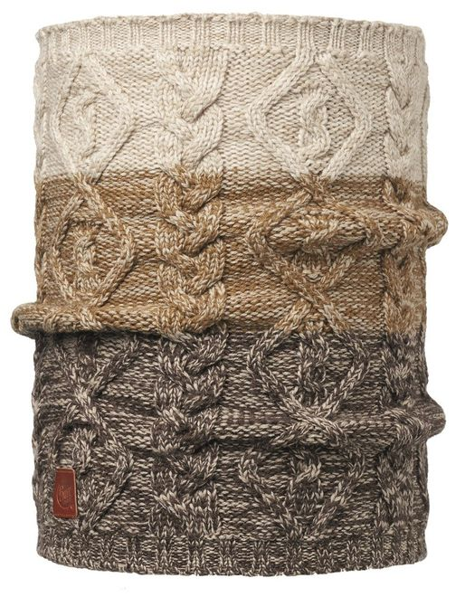 Buff Merino Wool Comfort Knitted Neckwarmer Nuba - nut