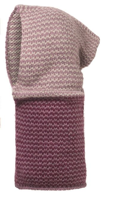 Buff Knitted Hood Cay - lilac shadow purple