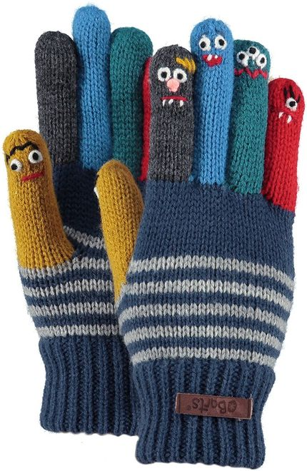 Barts Puppet Gloves - old blue