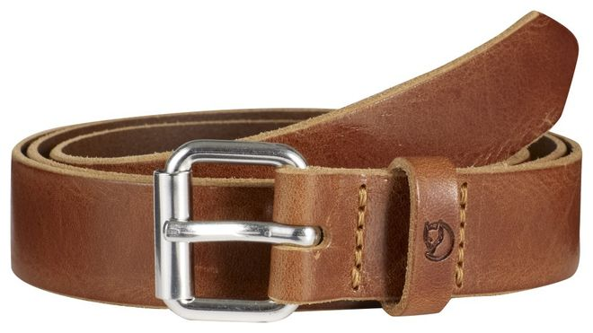 Fjällräven Sarek Belt 2,5 cm - Leather Cognac