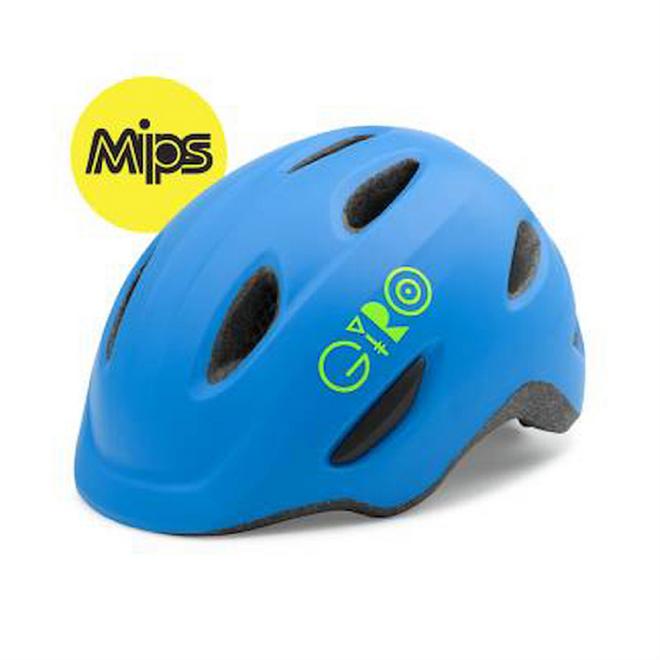 Giro Kinderhelm Scamp MIPS S 49-53 cm - matt blau/ lime