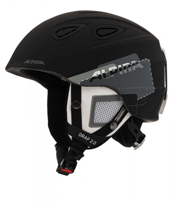 Alpina Grap 2.0 Skihelm - black grey matt