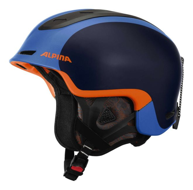 Alpina Spine Skihelm - blue orange matt