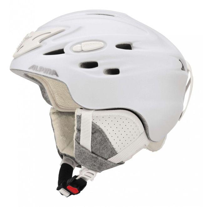 Alpina Scara Skihelm - white matt – Bild 1