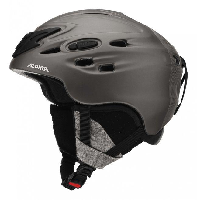 Alpina Scara Skihelm - black prosecco matt