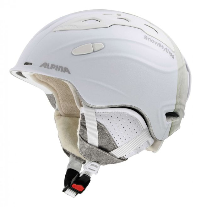 Alpina Snow Mythos Skihelm - white prosecco matt
