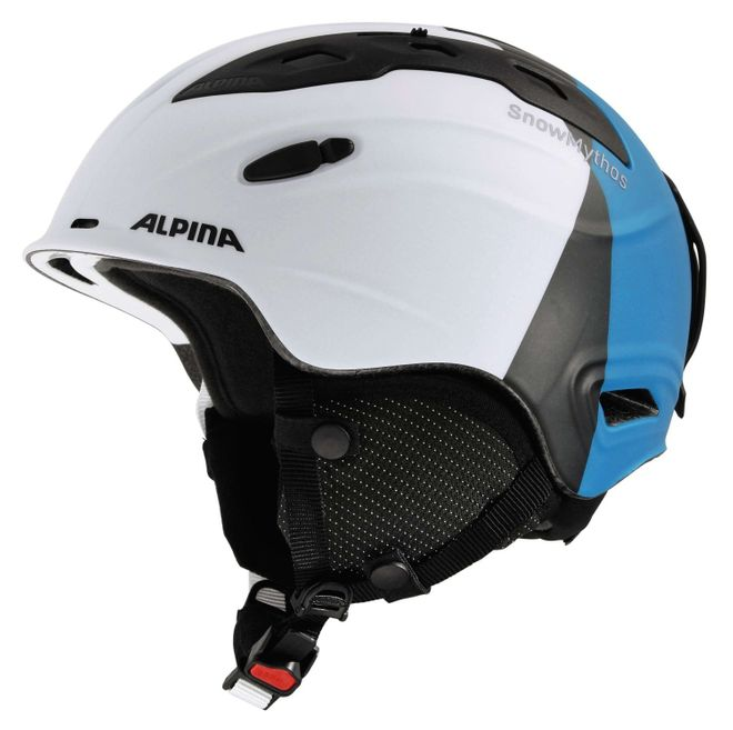 Alpina Snow Mythos Skihelm - white silver blue matt – Bild 1