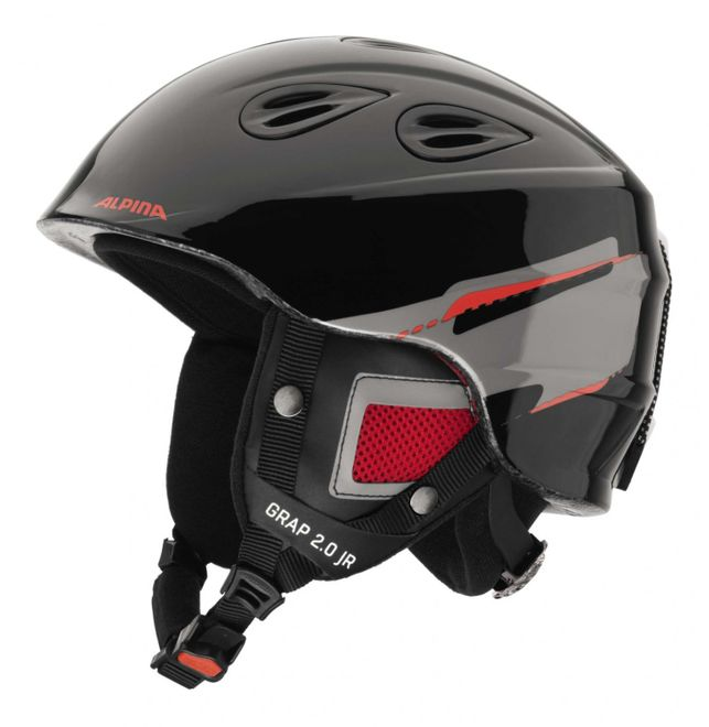 Alpina Grap 2.0 Junior Jugend-Skihelm - black red