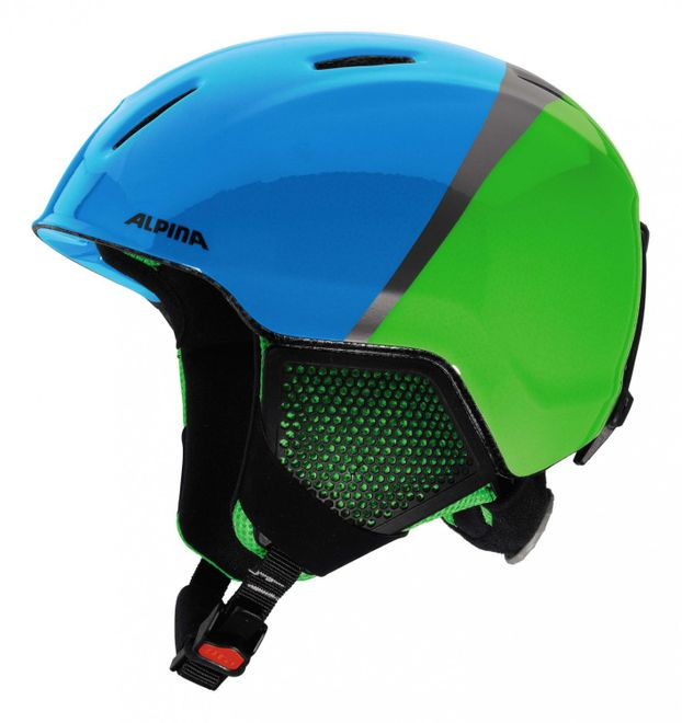 Alpina Carat LX Jugend-Skihelm - green blue grey