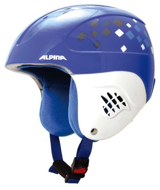 Alpina Carat Junior Skihelm - blue diamonds