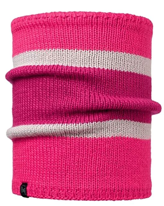 Buff Comfort Knitted Neckwarmer Navar - pink cerisse - mardi grape