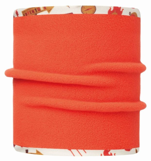 Buff Junior & Child Reversible Polar Neckwarmer - adventure cru - orange – Bild 2