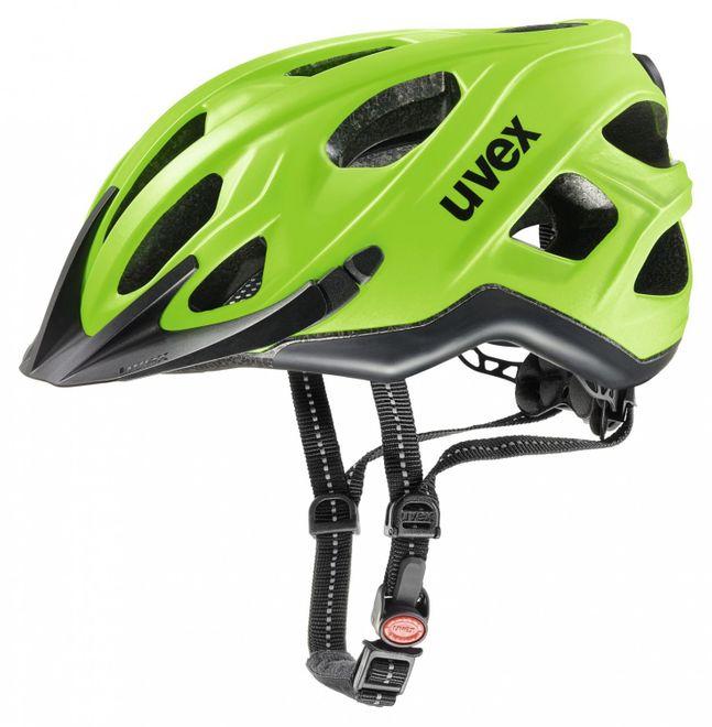Uvex City S Fahrradhelm - neon green-black mat