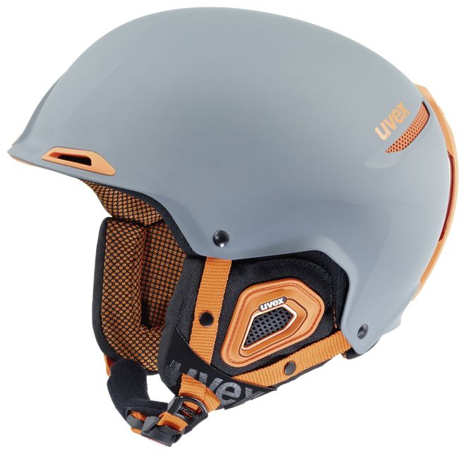 Uvex JAKK+ Skihelm - grey-orange mat