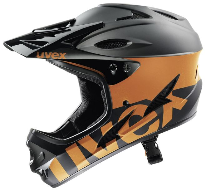 Uvex Hlmt 9 Bike Downhill-Helm - black-orange