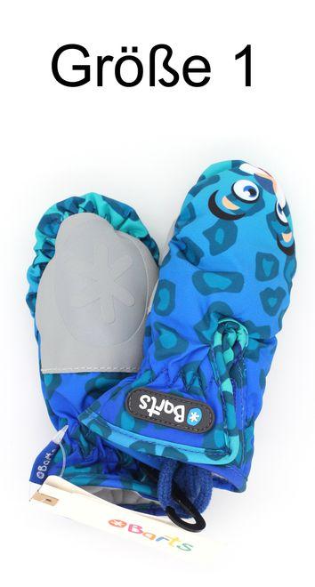 Barts Nylon Mitts Kinder Handschuhe - leopard blue – Bild 3