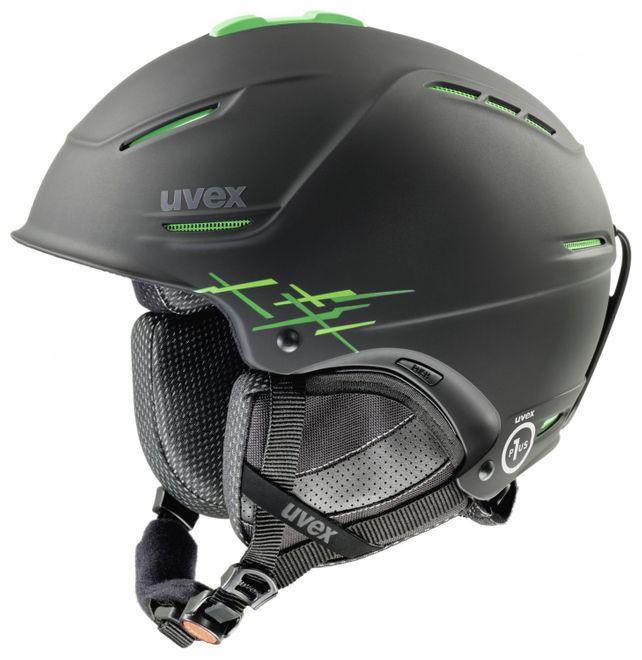 Uvex p1us pro Skihelm - black green mat