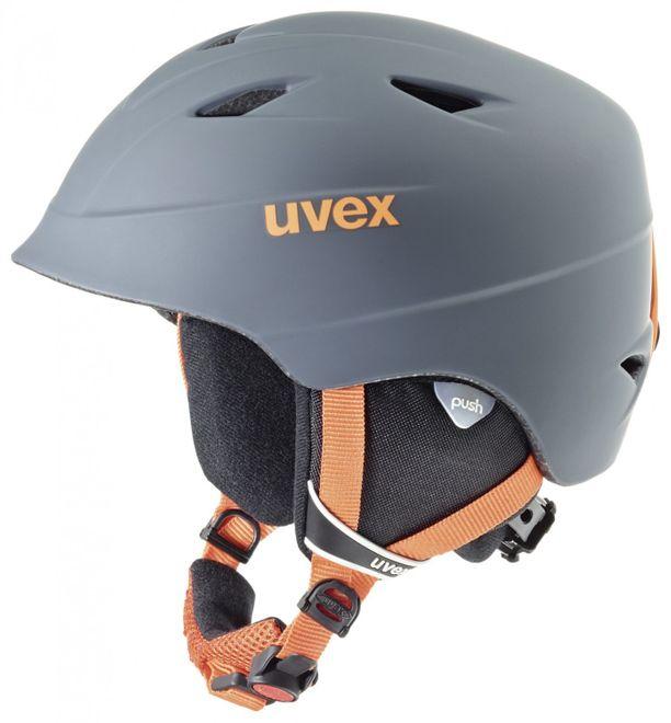 Uvex airwing 2 pro Junior Skihelm - titanium-orange mat