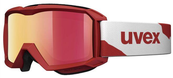 Uvex Flizz LM Junior Skibrille - red mat