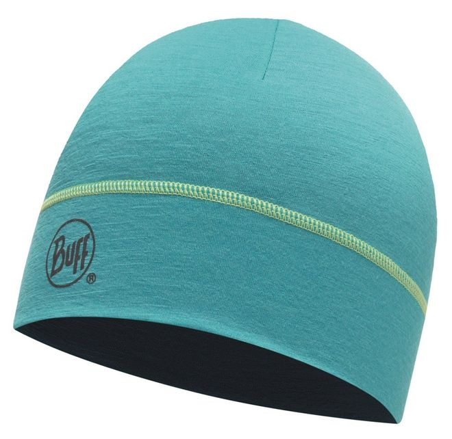 Buff Merino Wool Hat - solid viridian green