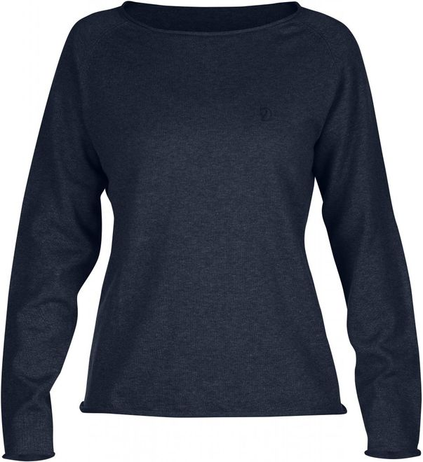 Fjällräven Övik Sweater Damen - Dark Navy