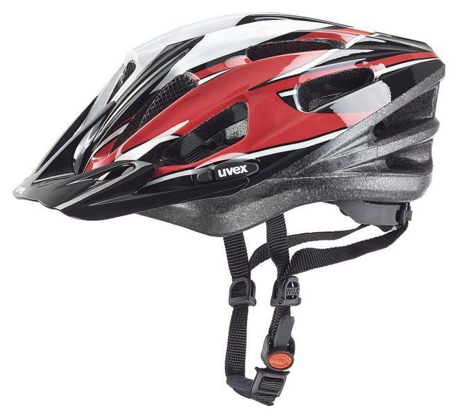 Uvex Boss Compact Fahrrad Helm - red-black-white