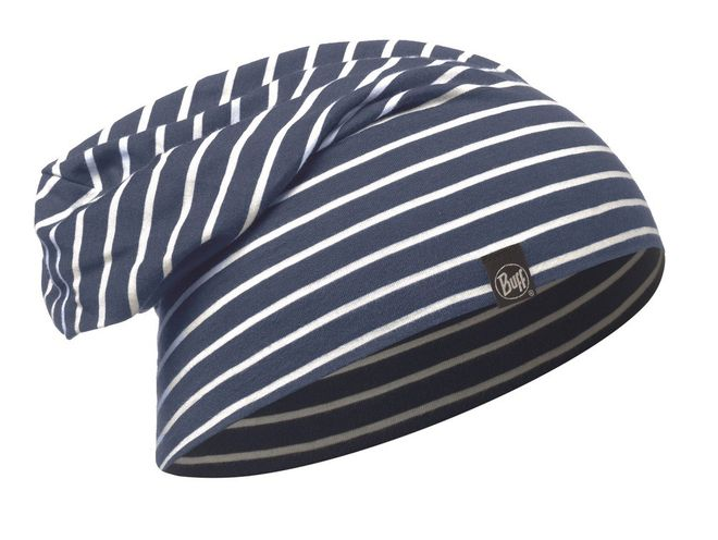 Buff Cotton Stripes Hat - denim stripes
