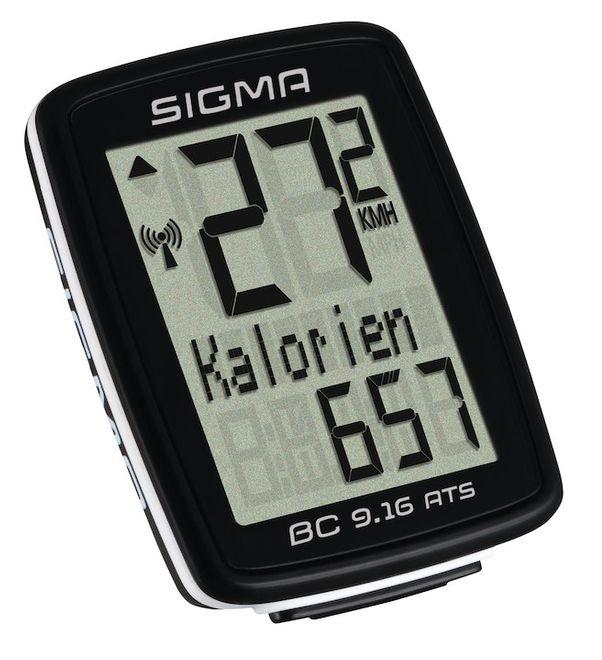 Sigma Fahrradcomputer BC 9.16 ATS - schwarz