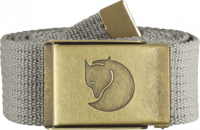 Fjällräven Canvas Brass Belt 4 cm Gürtel - Fog