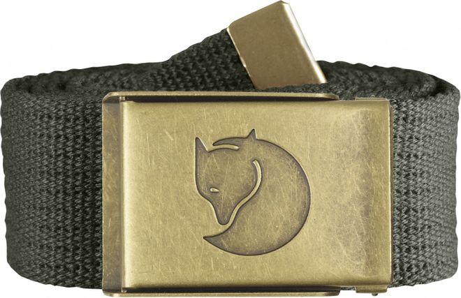 Fjällräven Canvas Brass Belt 4 cm Gürtel - Mountain Grey