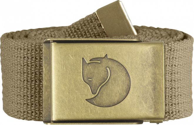 Fjällräven Canvas Brass Belt 4 cm Gürtel - Sand