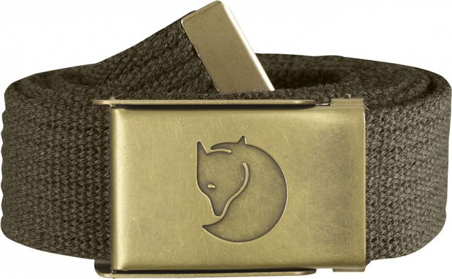 Fjällräven Canvas Brass Belt 3 cm - Dark Olive