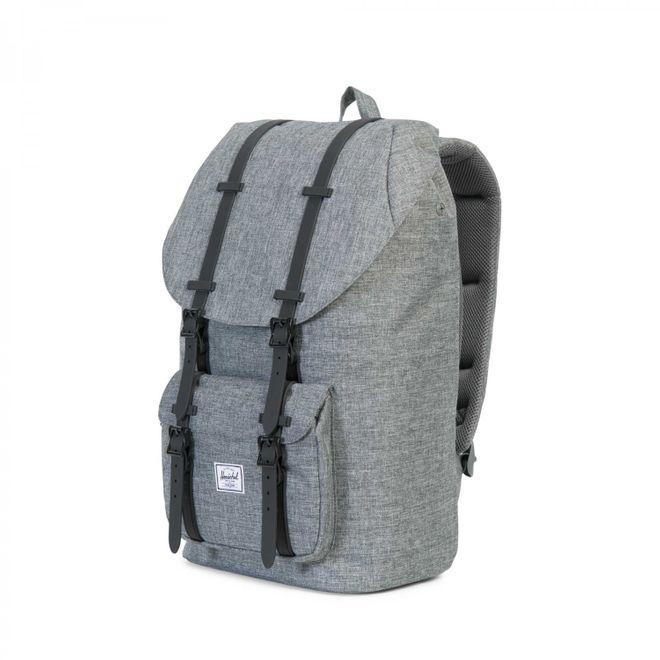 Herschel Little America Rucksack - Raven Crosshatch/Black Rubber – Bild 3