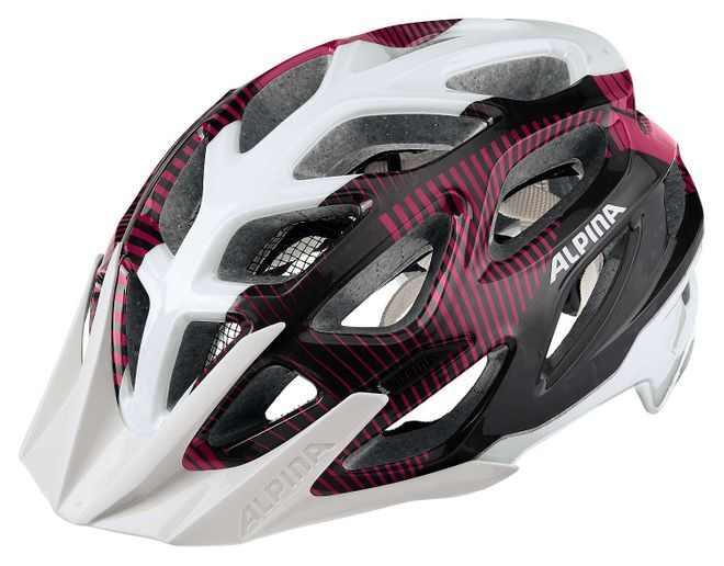 Alpina Mythos 3.0 Fahrrad Helm - white purple titanium