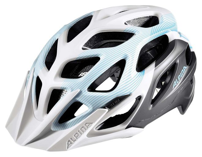 Alpina Mythos 3.0 L.E. Fahrrad Helm - white titanium lightblue
