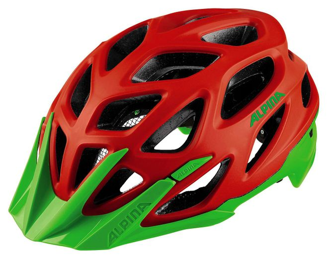 Alpina Mythos 3.0 L.E. Fahrrad Helm - neon red green