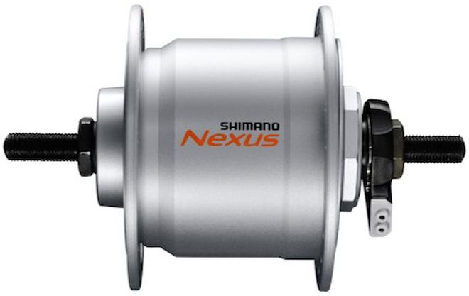 Shimano Nabendynamo Vollachse - silber