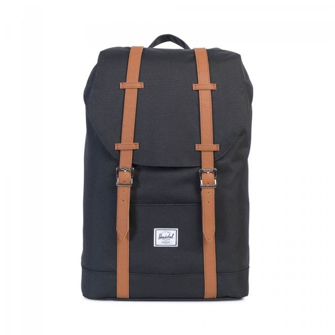 Herschel Retreat 14 Ltr. Mid-Volume Rucksack - Black/Tan Synthetic Leather – Bild 1