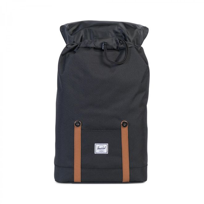Herschel Retreat 14 Ltr. Mid-Volume Rucksack - Black/Tan Synthetic Leather – Bild 3