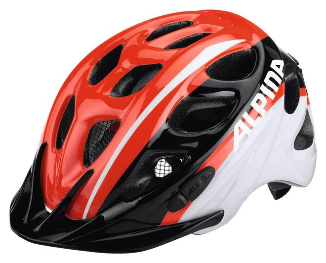 Alpina Rocky Kinder Fahrradhelm - neon red-black-white