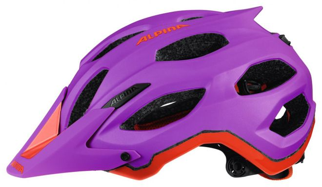 Alpina Carapax Fahrradhelm - purple neon red