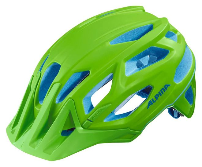 Alpina Garbanzo Fahrradhelm - neon-green blue