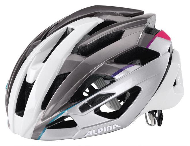 Alpina Valparola RC Fahrradhelm - white-alu-pink