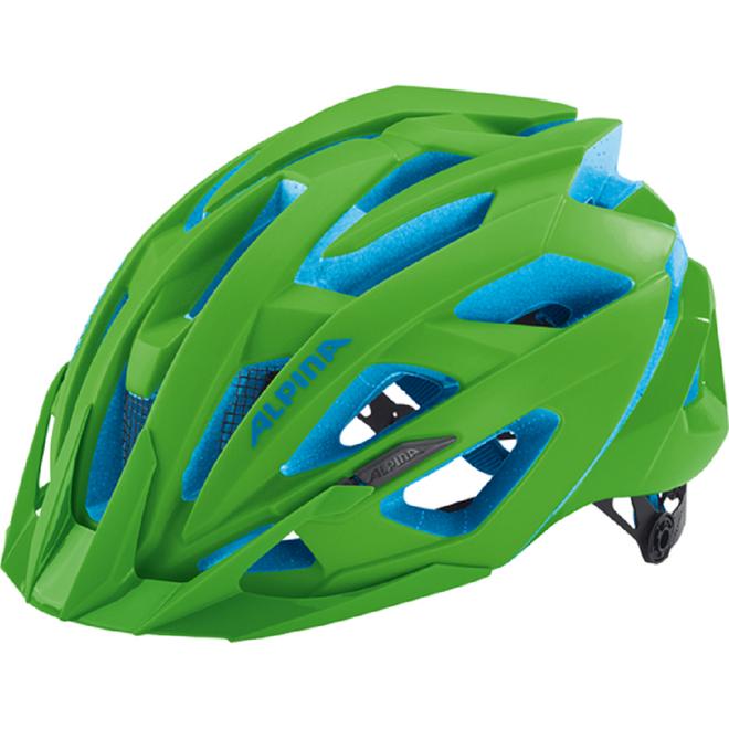 Alpina Valparola XC Fahrradhelm - neon-green blue