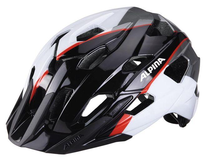 Alpina Yedon Fahrradhelm - black-white-neon red