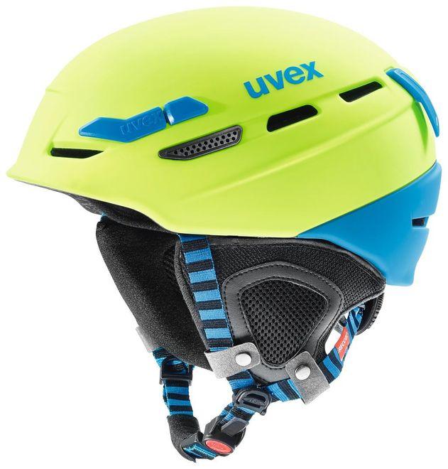 Uvex p.8000 Tour Bike- Kletter- und Skihelm - lime-blue mat – Bild 1