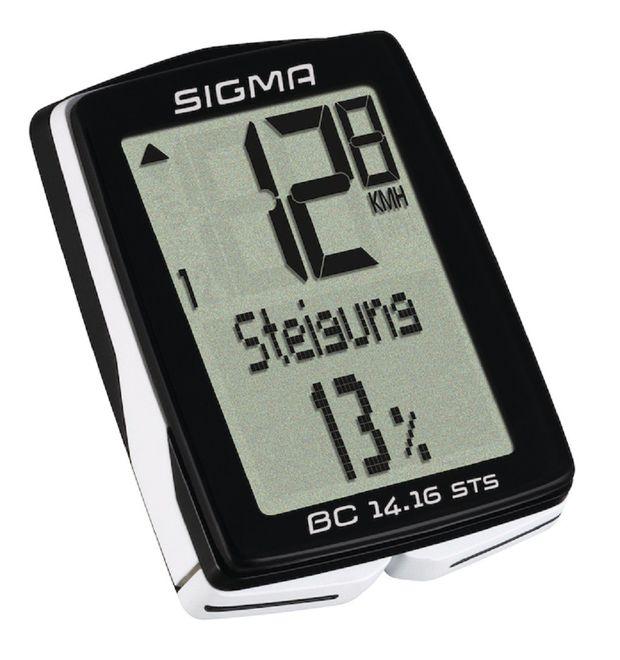 Sigma Fahrradcomputer BC 14.16 STS - schwarz